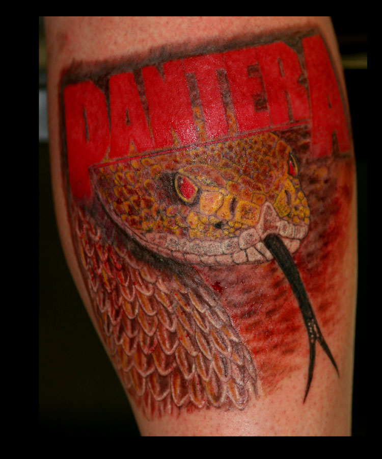 Pantera snake tattoo