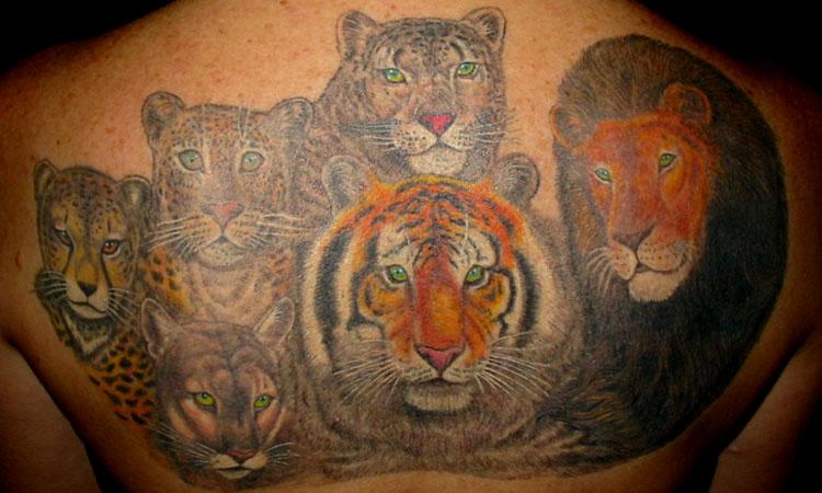 Mystic art tattoo tom milhoan for Panther tiger tattoo
